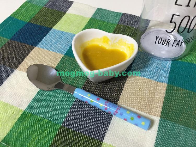 離乳食初期に食べれるかぼちゃとミルクのレシピ