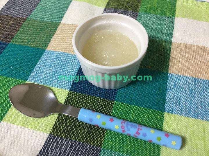 離乳食初期の梨ゼリー