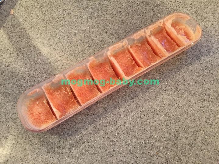 トマトペーストの冷凍ブロック